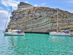 Sailing in Milos: boating in Kleftiko Sailing Catamaran, Sailing Trips, Greek Town, Archipelago, Geology, Greece, Beautiful Places, Wildlife, Tours