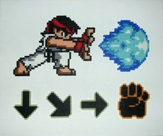 Ryu Perler Art Street Fighter SNES