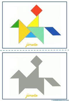 Tangram | Figuras para imprimir online Tangram Puzzles, 3rd Grade Math, Sensory Activities, Drawing For Kids, Math Games, Pattern Blocks, Preschool Crafts, Diy For Kids, Origami