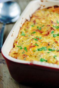 Bloemkoolgratin met aardappelen en kerstomaatjes