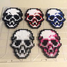 Perler bead skull coasters . April 29 #day267 of #365daysofdrawing #365daysofart . . #torontoartist #toronto #art #artwork #artist #artistic #myart #artistsoninstagram #instaart #instaartist #homedecor #handmade #beads #beading #perler #etsy #etsyshop #etsyseller #etsysmallbusiness #etsysellersofinstagram #skull #crafty #macabre