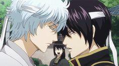 Gintoki and Takasugi (Katsura in the background tho )