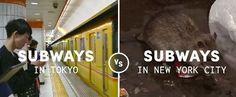外国人「日本人ってやっぱり何十年も進んでんな」「考え方の違いだろう」 日本の地下鉄とニューヨークの地下鉄はこんなに違う! : ラカタン 海外の反応
