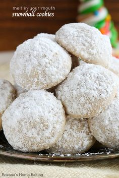 Melt-in-your-mouth buttery cookies, these shortbread like snowball cookies are one of the most requested baked treats at the cookie exchange. One bite and you'll understand why they are so addictive!