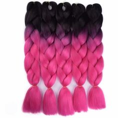Feilimei Ombre Colored Crochet Hair Extensions Kanekalon Hair Synthetic Crochet Braids Ombre Jumbo Braiding Hair Bundles Good Reputation Over The World Jumbo Braids Hair Extensions & Wigs