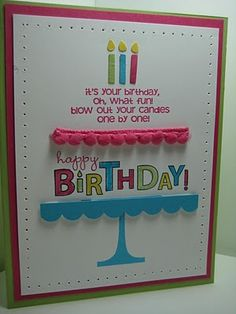 Stampin Up Bring on the Cake, Birthday, Scallop Border Punch