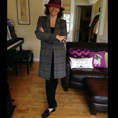 My masculine checks 💋 by Linda Personal Taste, January, Coats, Style, Fashion, Swag, Moda, Wraps, Fashion Styles