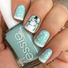 I love nail art. Cute