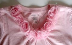 Easy flowers to add to lil' girl shirt (tutorial)