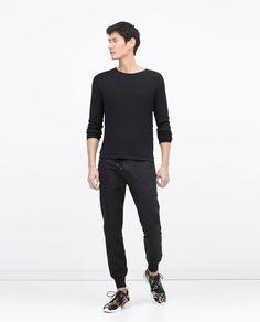 Image 1 of LINEN JOGGING PANTS from Zara