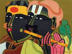 Acrylic On Canvas By Senior And Renowned Indian Artist T.Vaikuntam. By Studio3 Art Gallery.