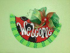 Watermelon by DoorCreationsbyJess on Etsy, $42.95