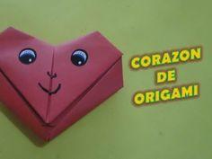Carta corazón de origami