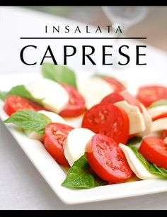 Insalata Caprese .....been craving this since i left sicily, i think this weekend im going to have to get some stuff and make one with a little drizzle of olive oil and balsamic vinegar yummmm