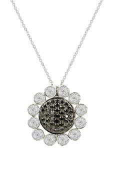 DiVersa Black and White Diamond Pendant