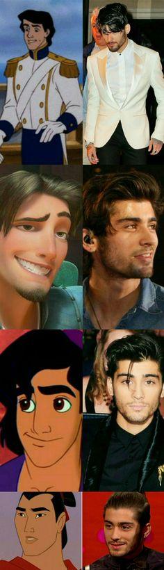 Zayn as Disney characters ❥ #Zayn Malik