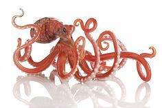 Octopus in Warm Colors: Jennifer Umphress Studios: Art Glass Sculpture | Artful Home  !!!!!!!!!!!!!!!!!!!!!!!