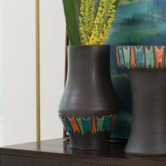 Low Midnight Canyon Vase