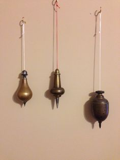 My plumb bobs