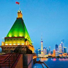 Shanghai Bund And Nanjing Road Peace Hotel, Shanghai Bund, Hotel Rooftop Bar, Nanjing, Tours, World, The World