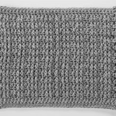 Front Post Treble Crochet Square for Checkerboard Textures Throw