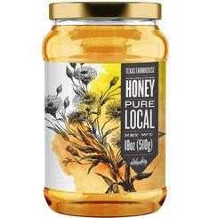 Texas Farmhouse Wildflower Honey by Fancy Ferret, via Behance
