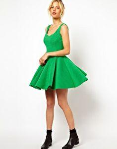 Image 4 ofASOS Ribbed Full Skater Dress