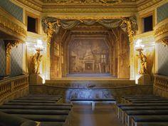 Le Petit Trianon Théâtre de la Reine (the Queen's little theatre). The lovely little theatre was built for her between 1778-1779.