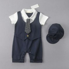 4b5c267adaf9 Baby Boy Wedding Christening Formal Party Tuxedo Suit Dress Outfit Clothes  0-24M