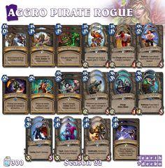 #Hearthstone Aggro Pirate Rogue | S22