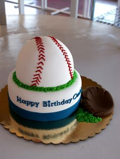 Great size for the little one's smash cake! Baseball Glove Cake, Wedding Cake Designs, Wedding Cakes, New Recipes, Favorite Recipes, Food Decorating, Baseball Birthday, Decorated Cakes, Cake Smash