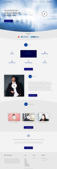 #Chiropractic Homepage Concept Design  Need a website, or have project in mind? We'll love to help, give us a shout and let's bring your dreams to life.  #websitedesign #ui #uxdesign #uiuxdesign #business