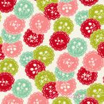 Bonnie & Camille Scrumptious Dainty Red Aqua [MODA-55076-17] - $10.45 : Pink Chalk Fabrics is your online source for modern quilting cottons and sewing patterns., Cloth, Pattern + Tool for Modern Sewists