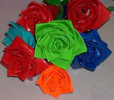Duct tape roses: Cumberland County Public Library & Info Center by TeenSpace at Your Library, via Flickr