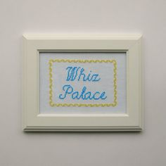 """Whiz Palace Cross Stitch Pattern 