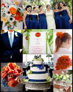 These are my wedding colors~navy/burnt orange wedding Lime Wedding, Cream Wedding, Fall Wedding, Wedding Navy, Perfect Wedding, Rustic Wedding, Navy Orange Weddings, Orange Wedding Colors, Blue Weddings