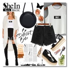 """""""LETTER PRINT WHITE TANK TOP - contest sponsored by SHEIN.COM"""" by andrea2andare on Polyvore featuring H&M and WithChic"""