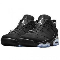 "Nike Air Jordan Retro 6 Lows ""CHROME"" Black/White/Metallic Silver 13 years since its last release in Jordan Shoes For Men, Air Jordan Shoes, Jordans For Men, Air Jordans, Cool Jordans, Air Jordan Basketball Shoes, Retro Jordans, Black Jordans, Newest Jordans"