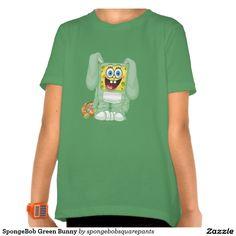 SpongeBob Green Bunny T Shirt. Producto disponible en tienda Zazzle. Vestuario, moda. Product available in Zazzle store. Fashion wardrobe. Regalos, Gifts. #camiseta #tshirt