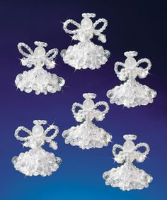 Holiday Beaded Ornament Kit - Crystal Angels