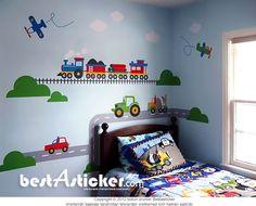 Tren Yolu Ve Karayolu Arabalar Büyük Ölçüde Renkli Çocuk Odası Duvar Sticker  Fiyat: 164 TL