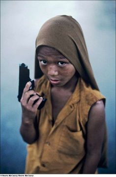Kid Soldier Photo Shoots - Steve McCurry