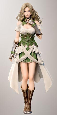 f Wood Elf Cleric Med Armor Temple Community ArtStation by Camfu Elfa, Fantasy Women, Fantasy Girl, Mode Inspiration, Character Inspiration, Elfen Fantasy, Female Elf, Poses References, Character Modeling