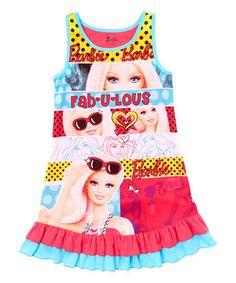 Look at this #zulilyfind! Blue Barbie Nightgown - Girls by Barbie #zulilyfinds