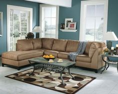 Sweet Masculine in Brown and Blue Living Room brown and blue living room - blue-grey paint color – Home Interiors