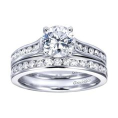 ENGAGEMENT - 1.32cttw Classic Channel Set Round Diamond Engagement Ring