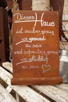 Edelrost Tafel - Dieses Haus... Gartendekoration Schild Gedichttafel Spruch Text