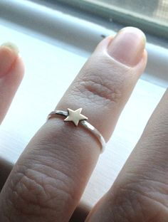 Tiny Gold Star Ring Over the Knuckle Ring Midi by GirlBurkeStudios, $20.00