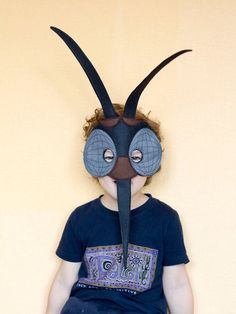 Mosquito Felt Mask Insect costume children mosquito mask adult insect mask Black Mosquito costume Masquerade mask Bug mask dress up Costume Halloween, Bug Costume, Halloween Masks, Costume Dress, Carnival Games For Kids, Kids Party Games, Mascaras Halloween, Birthday Themes For Adults, Book Week Costume