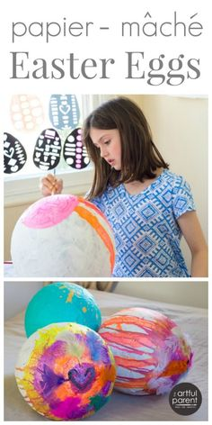 How to Make Giant Papier-Mache Eggs Easter Eggs